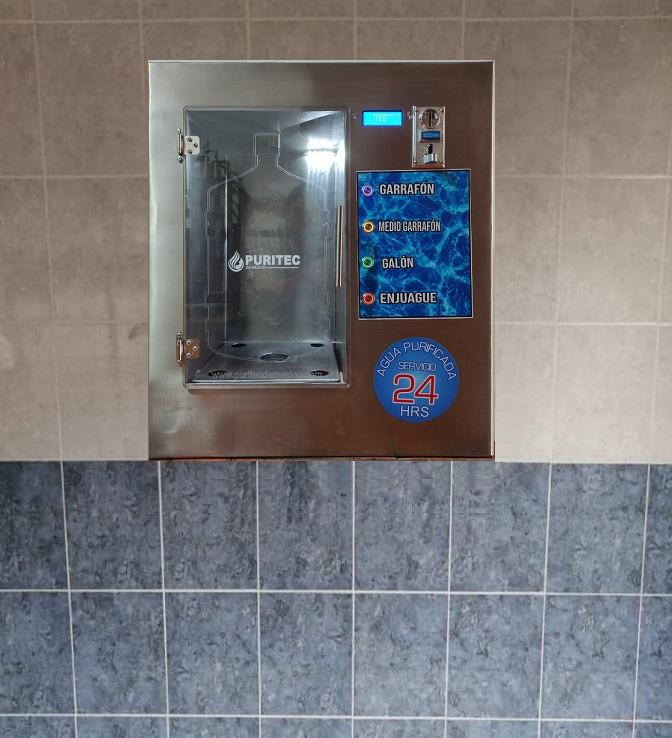 despachador automatico de agua empotrado